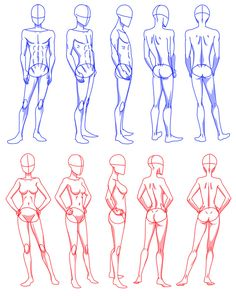 Somebody asked me to do something like that head angles I did long ago, but for the body, so... this is how I draw bodies I always start with that hips circle thing, mostly to balance the weight an...