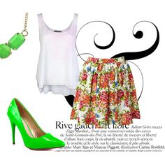 """""""Neon!"""" by paholalookbook on Polyvore #fashion #outfit #fasgiongirl #style #lookbook #polyvore #moda #streetstyle"""