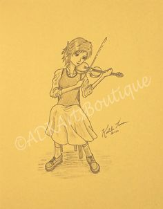 The lady plays the weddingtune. by Florence on Etsy