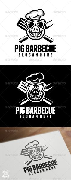 Buy Pig Barbecue Logo Template by VectorCrow on GraphicRiver. Great Pig Barbecue Logo Template for your company File included : . Bbq Logo, Grill Logo, Logo Restaurant, Black Restaurant, Cooking Restaurant, Gfx Design, Logo Design, Graphic Design, Design Barbecue