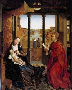 Van der Weyden. Saint Luc dessinant la Vierge (1435-40)