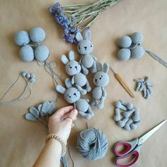 Crochet Amigurumi Bunny in process pattern zipzipdreams Crochet Amig … Crochet Amigurumi, Crochet Dolls, Knit Crochet, Diy Laine, Knitted Teddy Bear, Easy Knitting Projects, Crochet Rabbit, Hand Knitted Sweaters, Crochet Animals