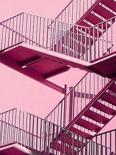 #pink #stairs