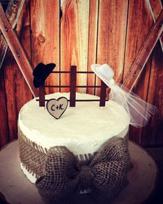 Western wedding cake topperrustic by MorganTheCreator on Etsy, $33.00