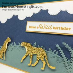 Moose Crafts, Cheetahs, 3d Projects, Stampin Up, Card Stock, Challenges, Paper Crafts, Clouds, Crafty