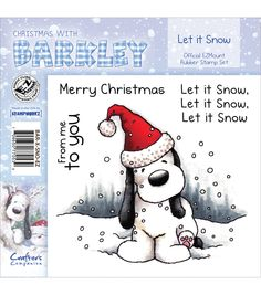 Crafter's Companion Christmas With Barkley Stamp Set Let It Snow