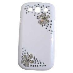 New 3D Bling Luxury Diamond Flower Case Cover For Samsung Galaxy S3 i9300 j,Card Wallet flower diamond shoulder bag case For SamSung i9300 N7100 Iphone 5