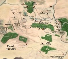 Map of The Shire by Mads Holgerson Annals of Arda.dk