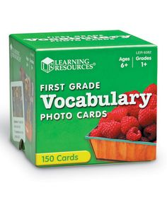 First Grade Vocabulary Photo Cards by Learning Resources $12.99