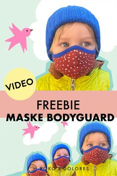 Close to your family comfortable for everyday use masks. Charge you the free pattern down and near the masks to the practical video tutorial. Easy Baby Sewing Patterns, Baby Clothes Patterns, Sewing For Kids, Free Sewing, Diy For Kids, Sewing Tutorials, Sewing Crafts, Sewing Projects, Masque Anti Pollution