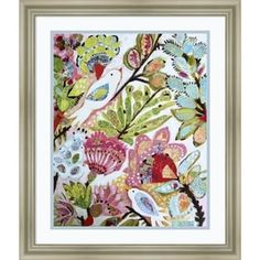 Shop for Framed Art Print 'Paper Birds I' by Karen Fields 20 x 24-inch. Get free delivery at Overstock.com - Your Online Art Gallery Store! Get 5% in rewards with Club O! - 23874912