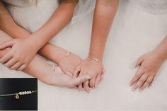 Initial bracelet graduation gift Fresh water by LAminiJewelry