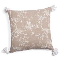 Coussin Roseraie ponpom