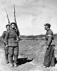They could be soldiers from Chinese 4th Army group under Lin Biao.  They were usually ethnic koreans living in China.