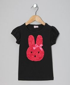 A bunny made entirely of ruffles—what could be better? This tee celebrates spring in darling style, with oodles of swirling ruffles and a silky bow. Soft, stretchy cotton keeps it comfy for glamour girls to wear all day.