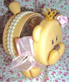 Baleiro Ursinha Princesa Biscuits, Pasta, Children, Canela, Jars, Feltro, Kitchen, Log Projects, Decorated Boxes