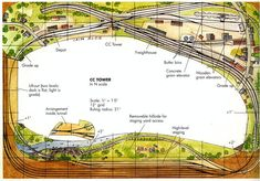 Track plan for a bedroom sized layout by Iain Rice N Scale Model Trains, Model Train Layouts, Scale Models, Model Railway Track Plans, Norfolk Southern, Ho Trains, Train Tracks, View Source, Railroad Tracks