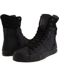 LEVI'S FOOTWEAR Levis Zip Ex High CT Twill Women's Casual Shoes, Black Mono