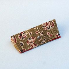 M.Green Printed Fabric Cover Spectacle Case - 6.5 x 3 Inch