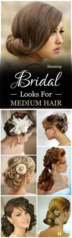 Medium length hair gives us a lot of freedom to play around especially when it comes to choosing Bridal hairstyles for medium hair.#bridal #bridalhairstyles