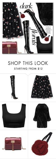 """""""Winter Prints: Dark Florals"""" by paculi ❤ liked on Polyvore featuring WearAll and darkflorals"""