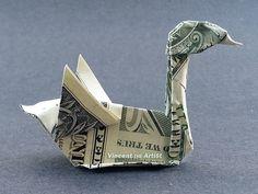 Schwan Geld Origami  Tieren Vogel aus von VincentsArtSupplies