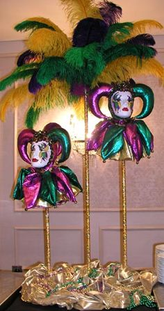 mardi gras centerpieces | Home Dressing - The Major Elements of Mardi Gras Decorations