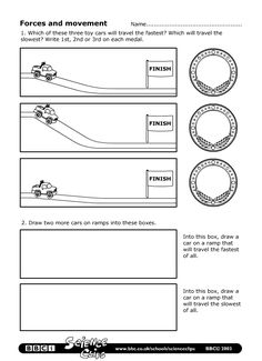 BBC - Schools Science Clips - Forces and movement Worksheet