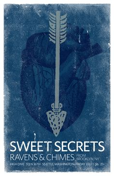 Sweet Secrets, Ravens and Chimes at the High Dive in Fremont, Seattle Fremont Seattle, Ravens, The Secret, Sweet, Movie Posters, Design, Art, Candy, Art Background