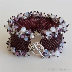 Ruffle Garland Purple Bracelet by Smadar's Treasure, via Flickr