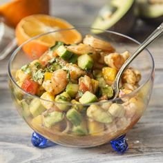 Mexican-Style Shrimp Ceviche featuring jalapeno white balsamic vinegar. This dish demands attention and it's well-deserved.