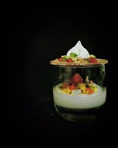 "Other angle "" individual Lemongrass pannacotta "" #foodstarz_official #cheftalk…"
