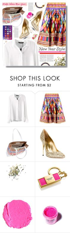 New Year's Style Resolution by prigaut on Polyvore featuring Manish Arora, Sebastian Milano, Medusa's Makeup, Estée Lauder, Topshop, ASOS, newyear, MoreColors and MakeLifeColorful