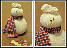 Easy Christmas Crafts | How to Make Christmas Sock Snowmen Craft | DIY Home Decor