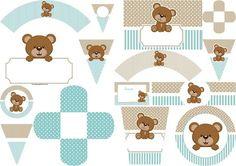Teddy Bear for Boys: Free Printable Mini Kit.
