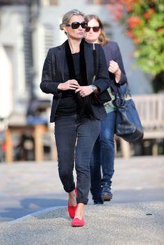Skinny jean blazer and flats