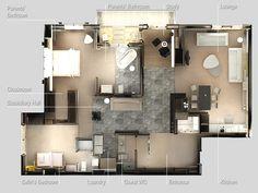 Планировка квартиры с двумя спальнями. Фото 31