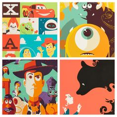 Pixar Screen Print Details - Tom Whalen, Michael De Pippo and Dave Perillo