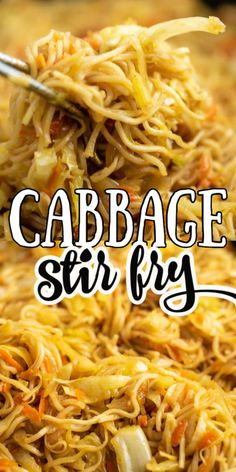 Easy cabbage stir fry recipe with ramen noodles and topped with sweet chili sauce! Easy cabbage stir fry recipe with ramen noodles and topped with sweet chili sauce! Stir Fry Recipes, Vegetable Recipes, Vegetarian Recipes, Cooking Recipes, Rice Noodle Recipes, Pasta Dishes, Food Dishes, Food Food, Side Dishes