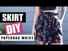 DIY Paperbag Waist Skirt With Pockets (Part 1 of 2) | Raylene Harvey - YouTube