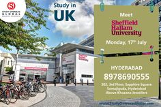 Meet the representatives of Sheffield Hallam University today at Hyderabad.  Visit: http://studyoverseasglobal.com/ for details. #StudyOverseas #UniversityVisit