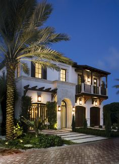 Front Façade at Night #ms2designstudio #design #interiordesign #Miami #florida #contemporary #modern
