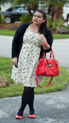 Love Kristin Marie's awesome use of red in here black & white ensemble. Her dress is also super feminine & pretty!