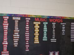 Keep debating the music word wallor build one in the piano folder or lapbook . Classroom Word Wall, Music Classroom, Classroom Decor, Classroom Displays, Music Word Walls, Music Words, Interactive Word Wall, Music Bulletin Boards, Music Tree
