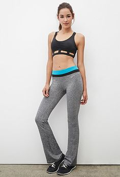 Heathered Fit & Flare Yoga Pants | Forever 21 - 2000081784