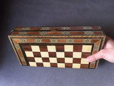 "Melanie's Syrian Backgammon box 6"" x 12"" closed"