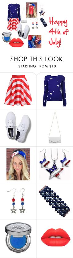 """""""4th of July"""" by starsj3 ❤ liked on Polyvore featuring Chinti and Parker, Keds, Akira, Marina J., Urban Decay and Lime Crime"""