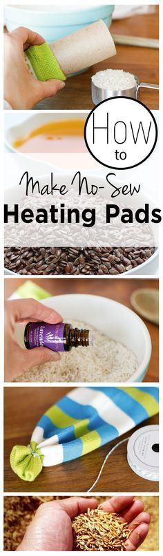 No Sew Heating Pads, these are so simple to make and by adding the essential oils makes for great aromotherapy.