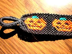 Pumpkin Halloween Macrame Friendship Bracelet by TheGringaHippie on Etsy