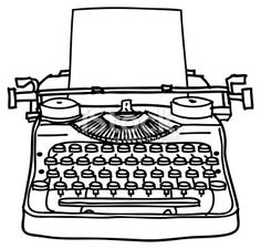 beautiful pen and ink rendering of an old typewriter pre rh pinterest com typewriter clipart free commercial use typewriter clipart black and white